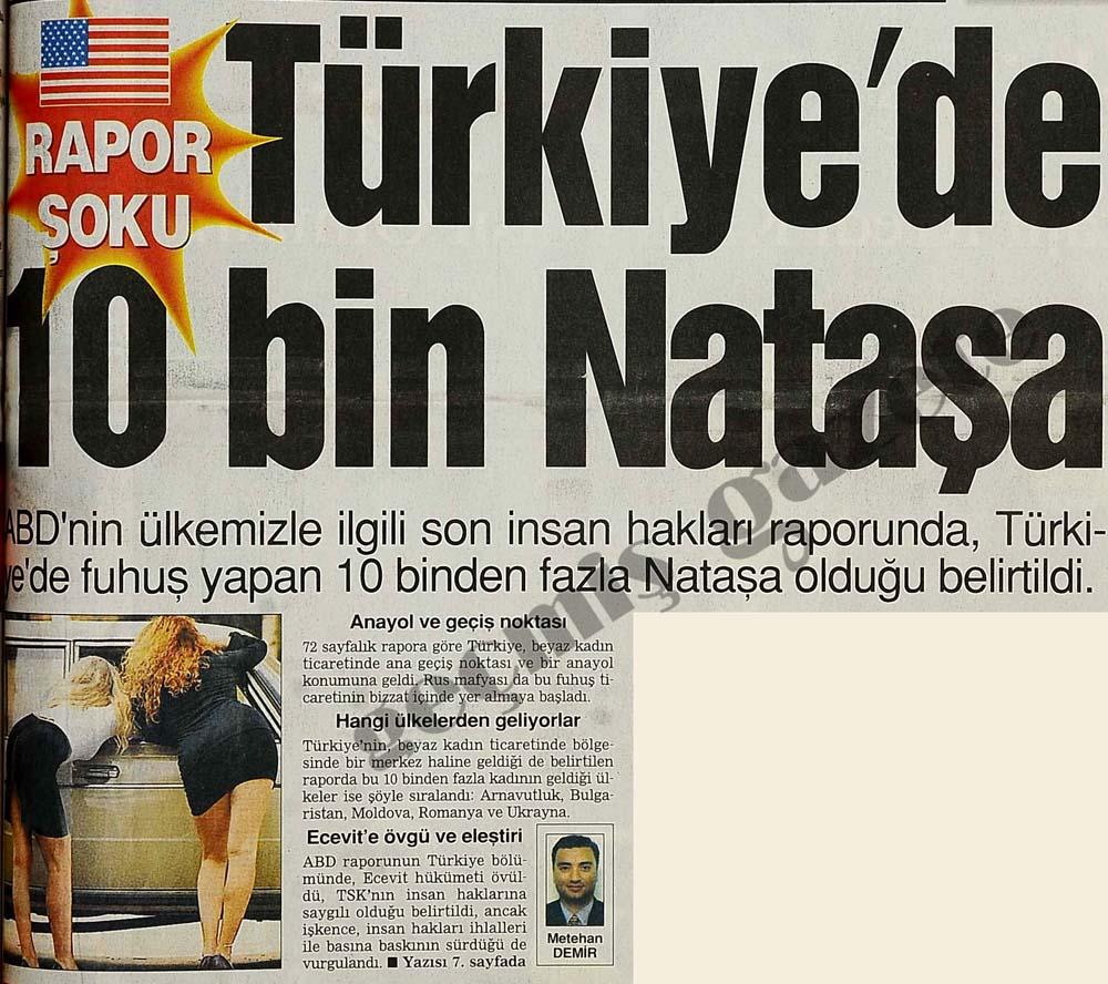 Türkiye'de 10 bin Nataşa var