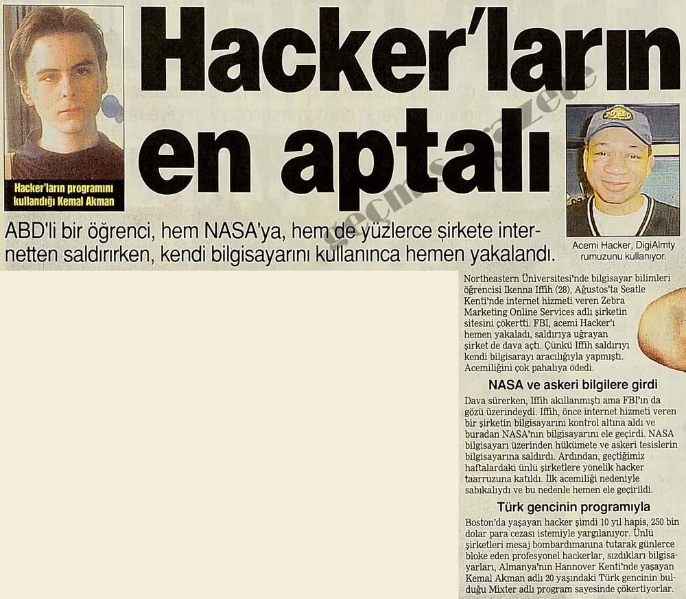 Hacker'ların en aptalı