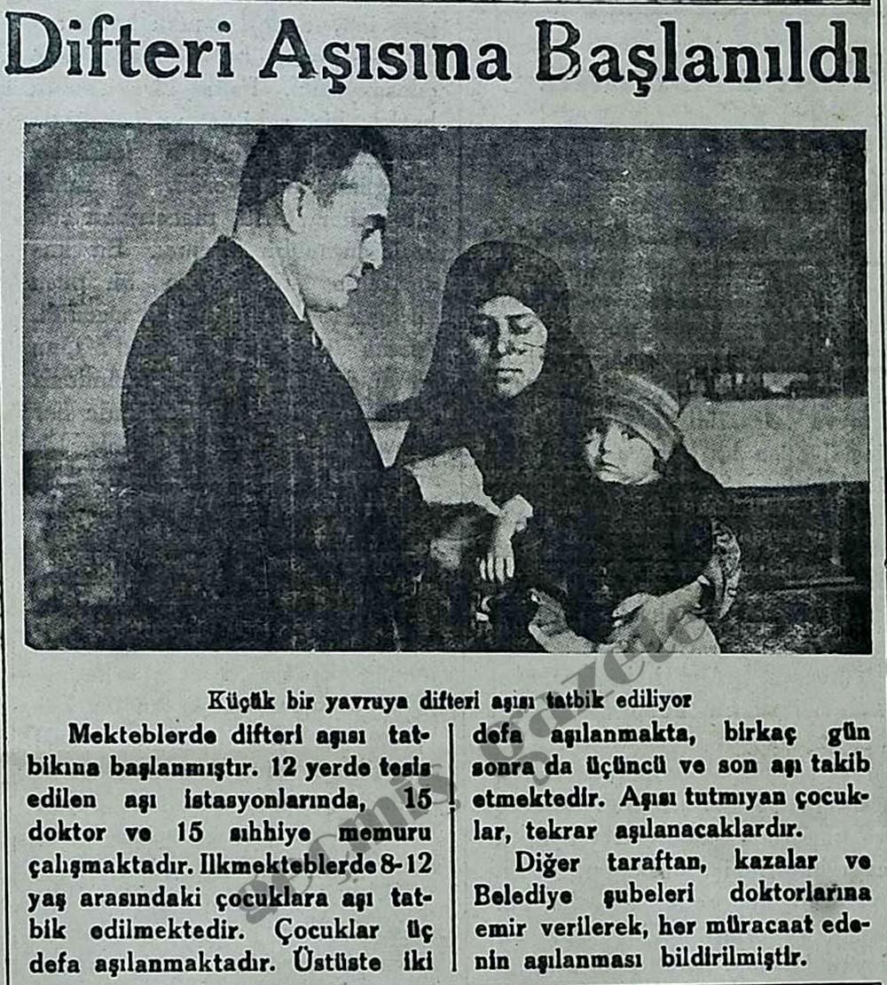 Difteri Aşısına Başlandı