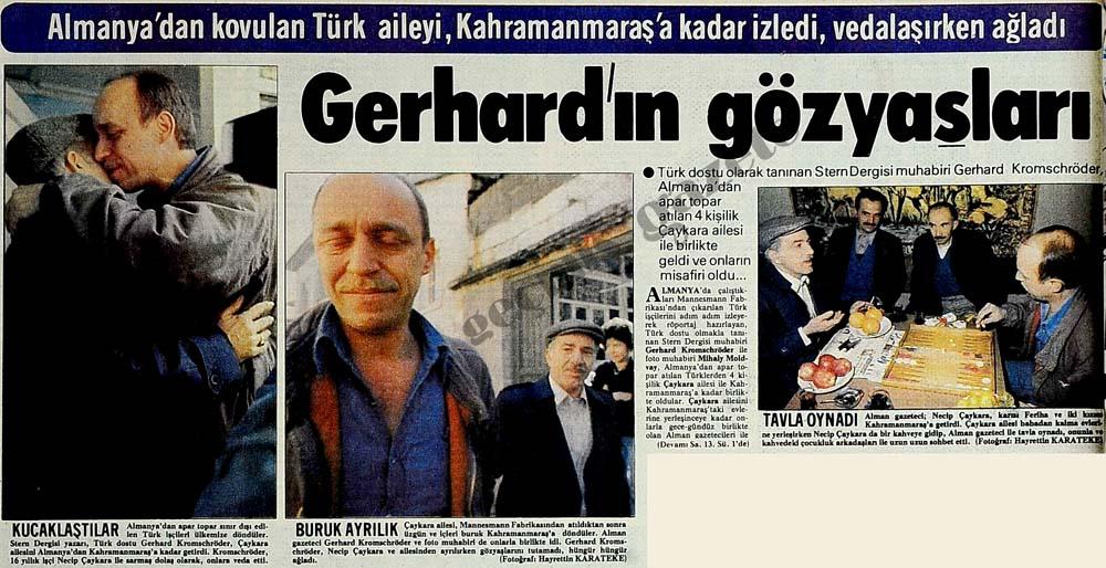 Almanya'dan kovulan Türk aileyi, Kahramanmaraş'a kadar izledi, vedalaşırken ağladı