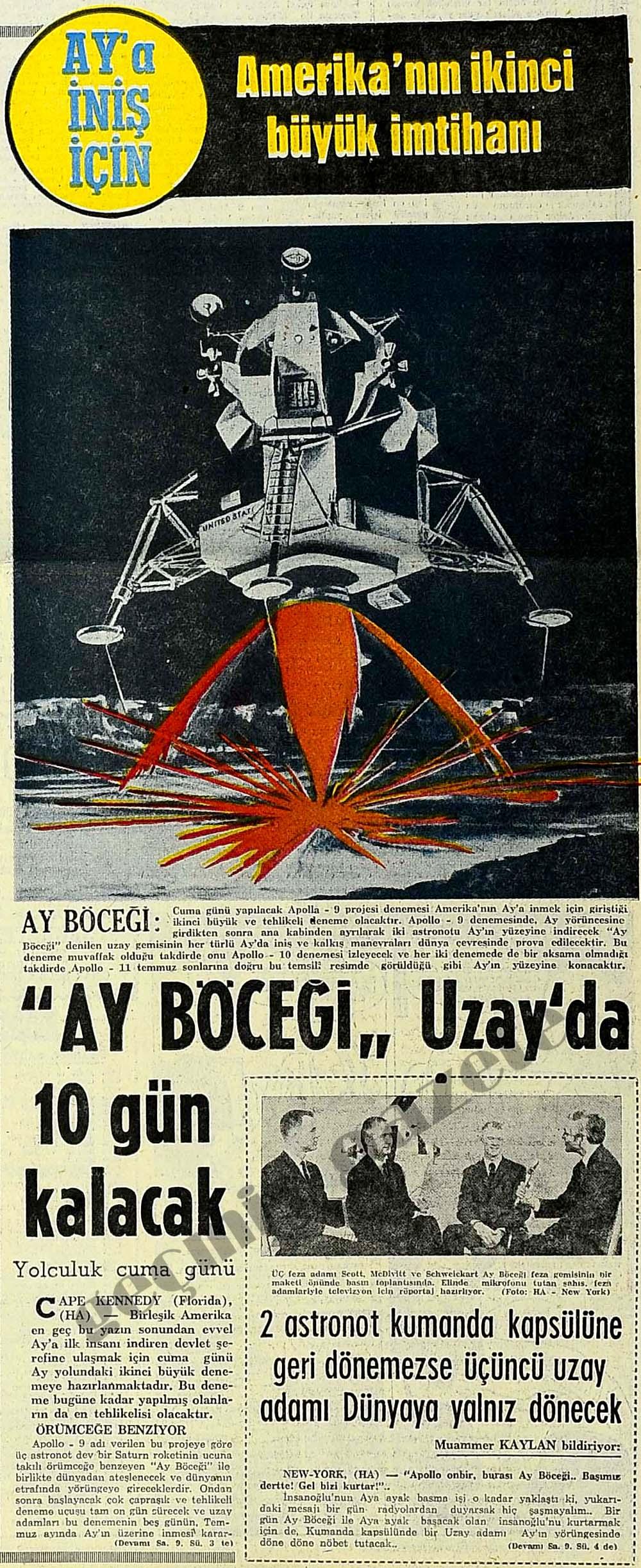 """""""Ay Böceği"""" Uzay'da 10 gün kalacak"""