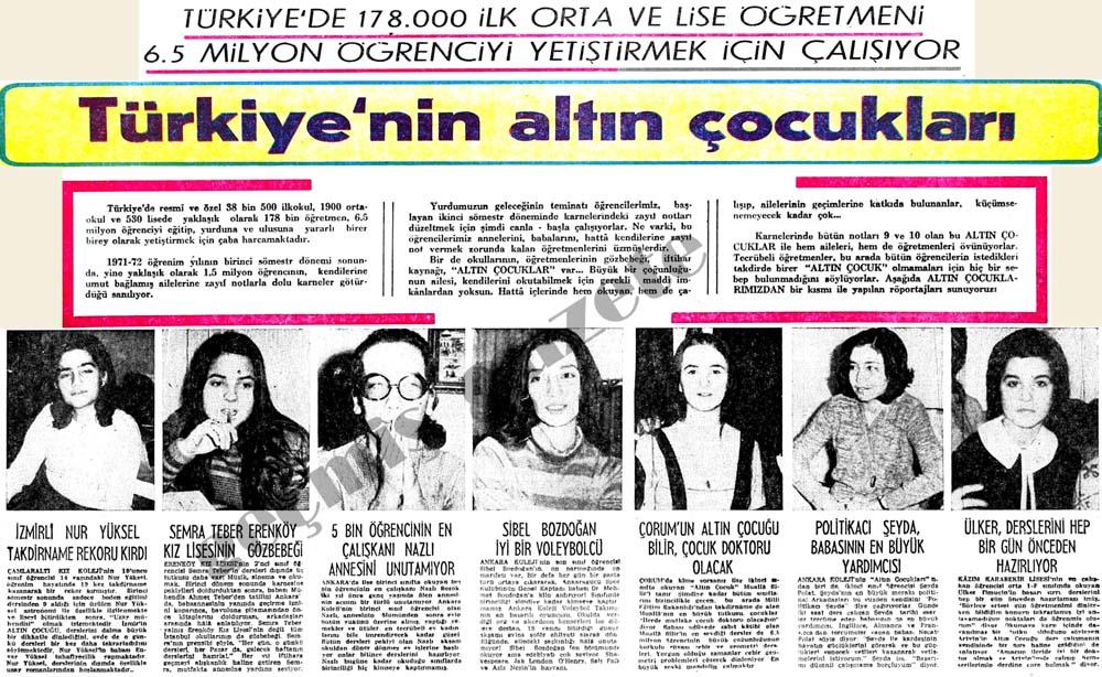 Türkiye'nin altın çocukları