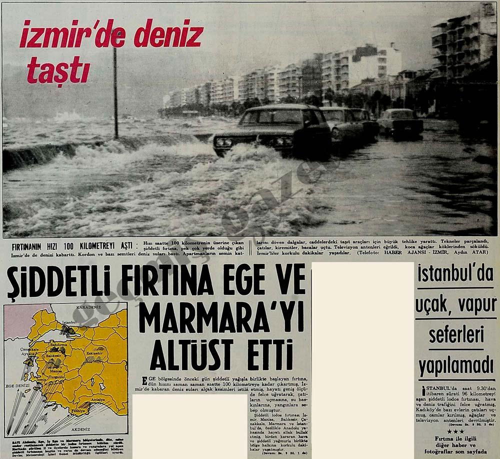 Şiddetli fırtına Ege ve Marmara'yı altüst etti