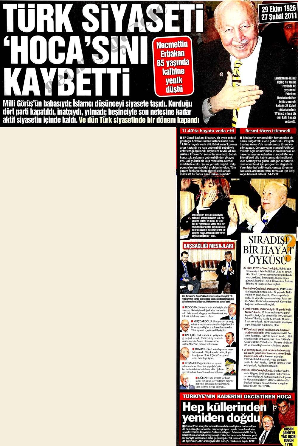 Türk siyaseti 'Hoca'sını kaybetti