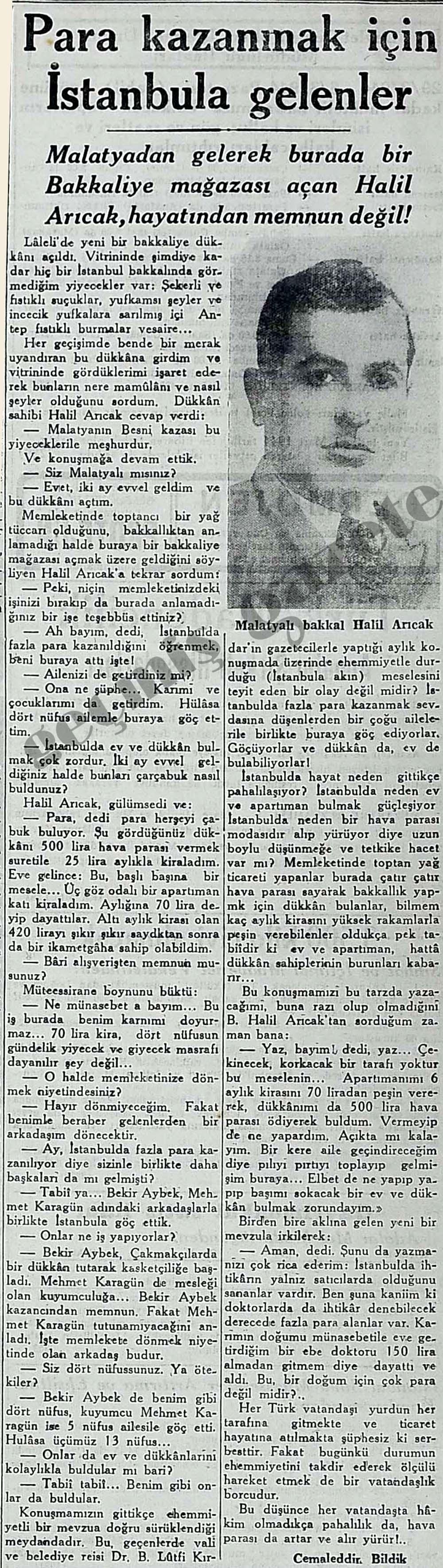 Para kazanmak için İstanbula gelenler