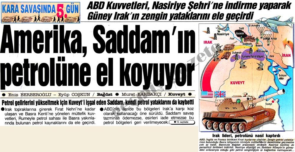 Amerika, Saddam'ın petrolüne el koyuyor
