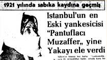 """İstanbul'un en Eski yankesicisi """"Pantuflacı Muzaffer"""" yine Yakayı ele verdi"""