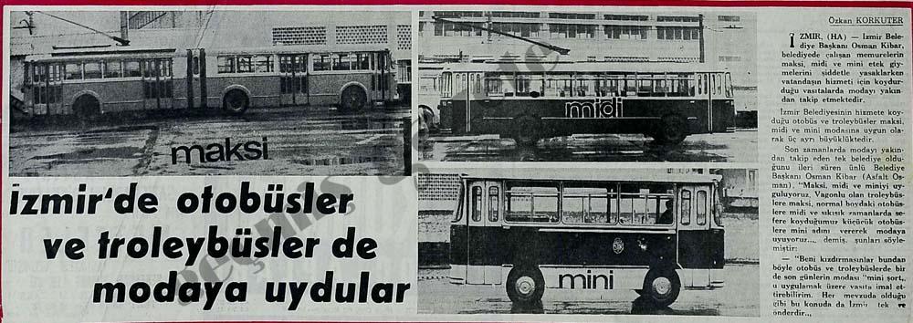 İzmir'de otobüsler ve troleybüsler de modaya uydular