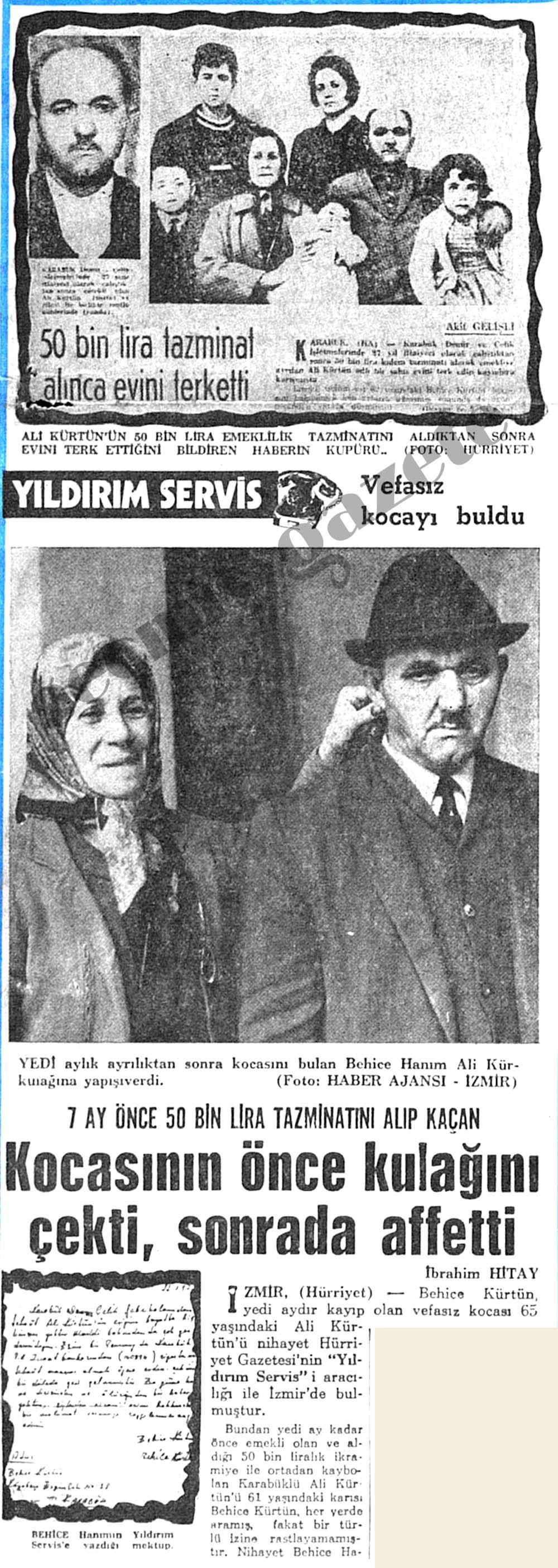 50 bin lira tazminatını alıp kaçan kocasının önce kulağını çekti, sonrada affetti