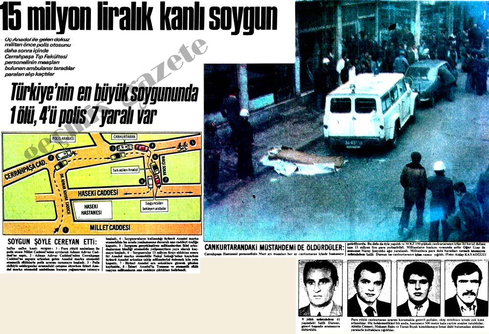Türkiye'nin en büyük soygununda 1 ölü, 4'ü polis 7 yaralı var