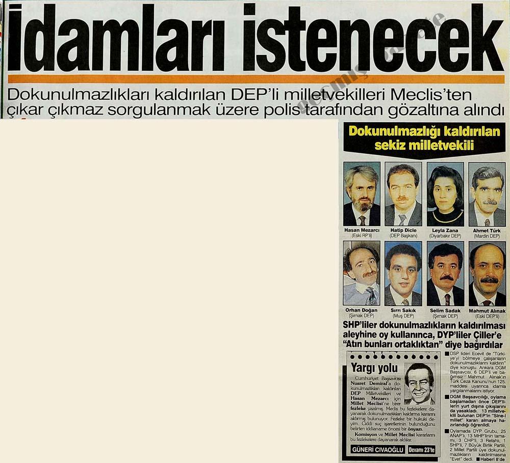 Dokunulmazlığı kaldırılan sekiz milletvekili