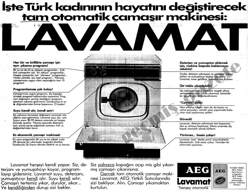 "AEG Lavamat ""herşey otomatik"""
