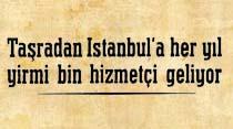 Taşradan İstanbul'a her yıl yirmi bin hizmetçi geliyor