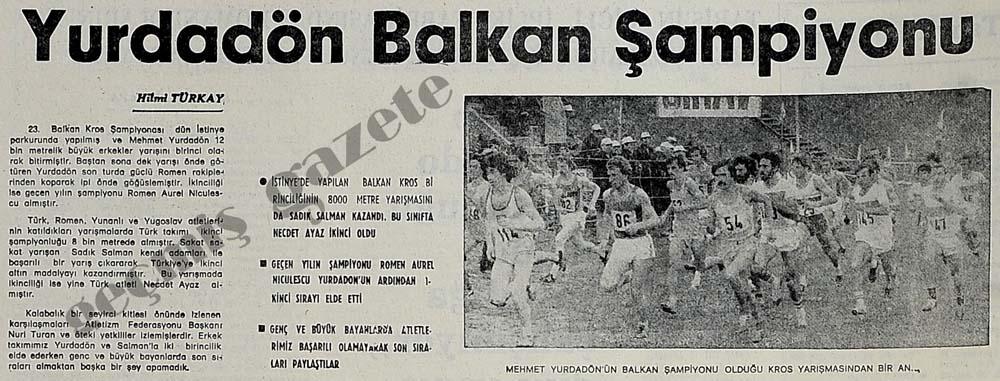 Mehmet Yurdadön Balkan Şampiyonu