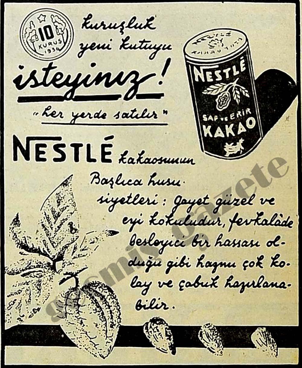 """Nestlé 10 kuruşluk yeni kutuyu isteyiniz! """"her yerde satılır"""""""