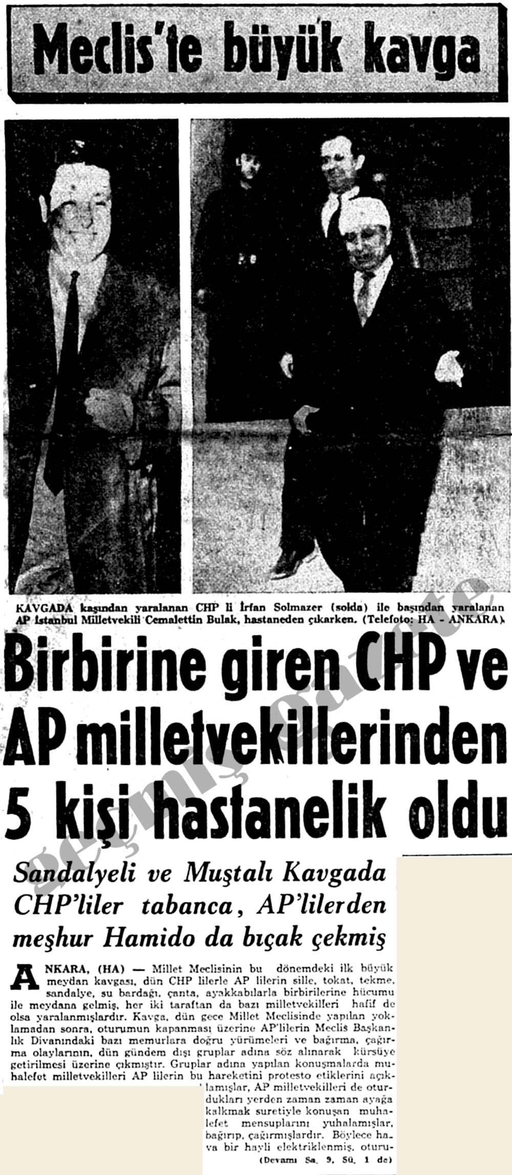 Birbirine giren CHP ve AP milletvekillerinden 5 kişi hastanelik oldu