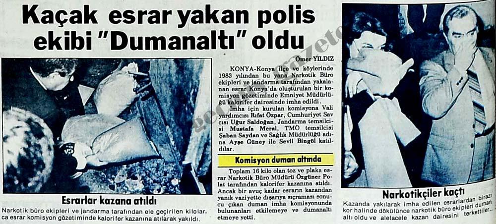 """Kaçak esrar yakan polis ekibi """"Dumanaltı"""" oldu"""