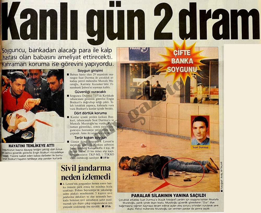 İstanbul'un iki yakasında banka soygunu
