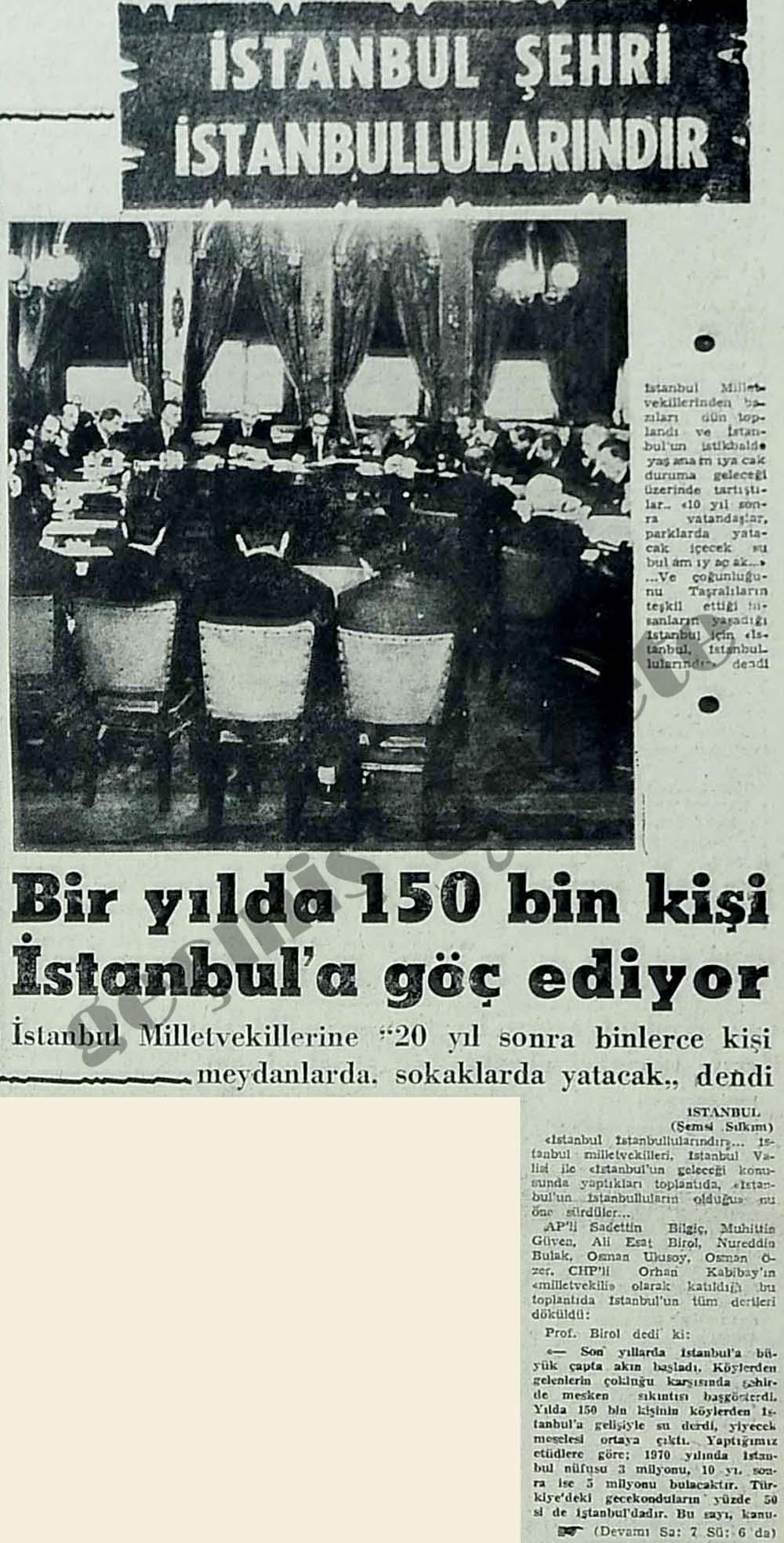 İstanbul şehri İstanbullularındır