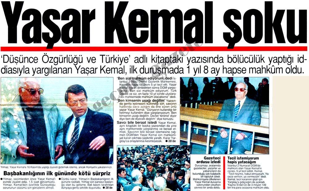 Yaşar Kemal şoku