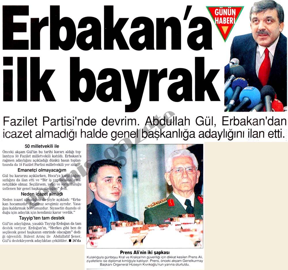 Erbakan'a ilk bayrak