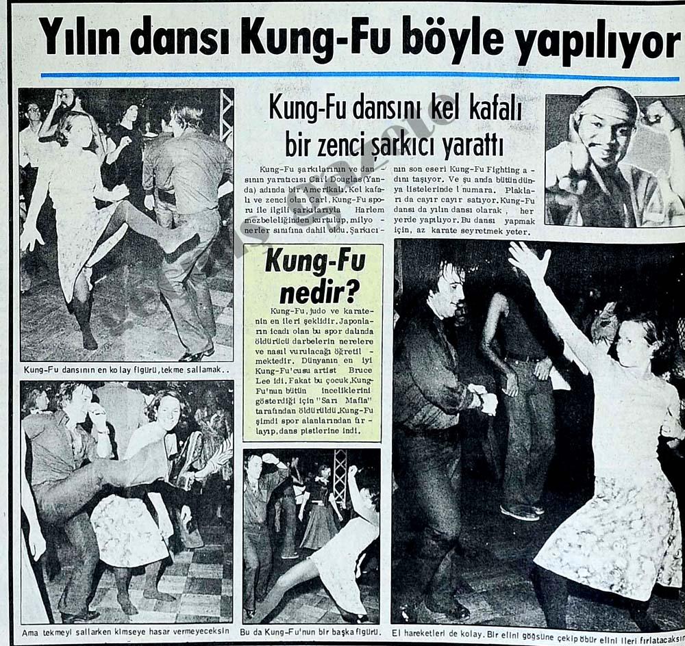 Kung-Fu dansını kel kafalı bir zenci şarkıcı yarattı