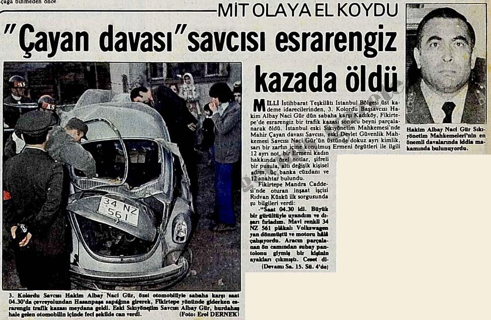 """""""Çayan davası"""" savcısı esrarengiz kazada öldü"""