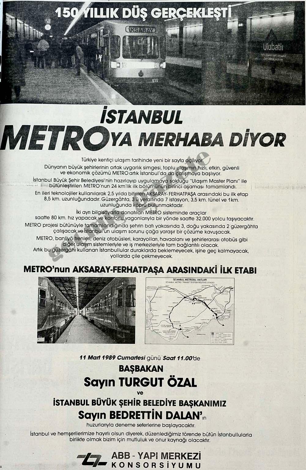 150 yıllık düş gerçekleşti, İstanbul Metro'ya merhaba diyor