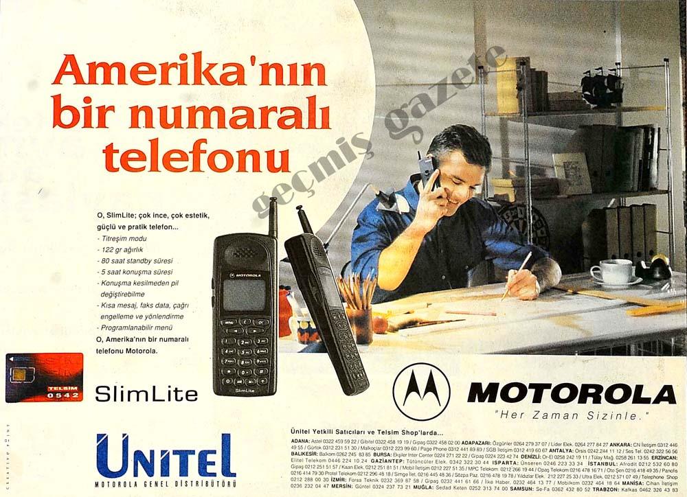 Amerika'nın bir numaralı telefonu Motorola