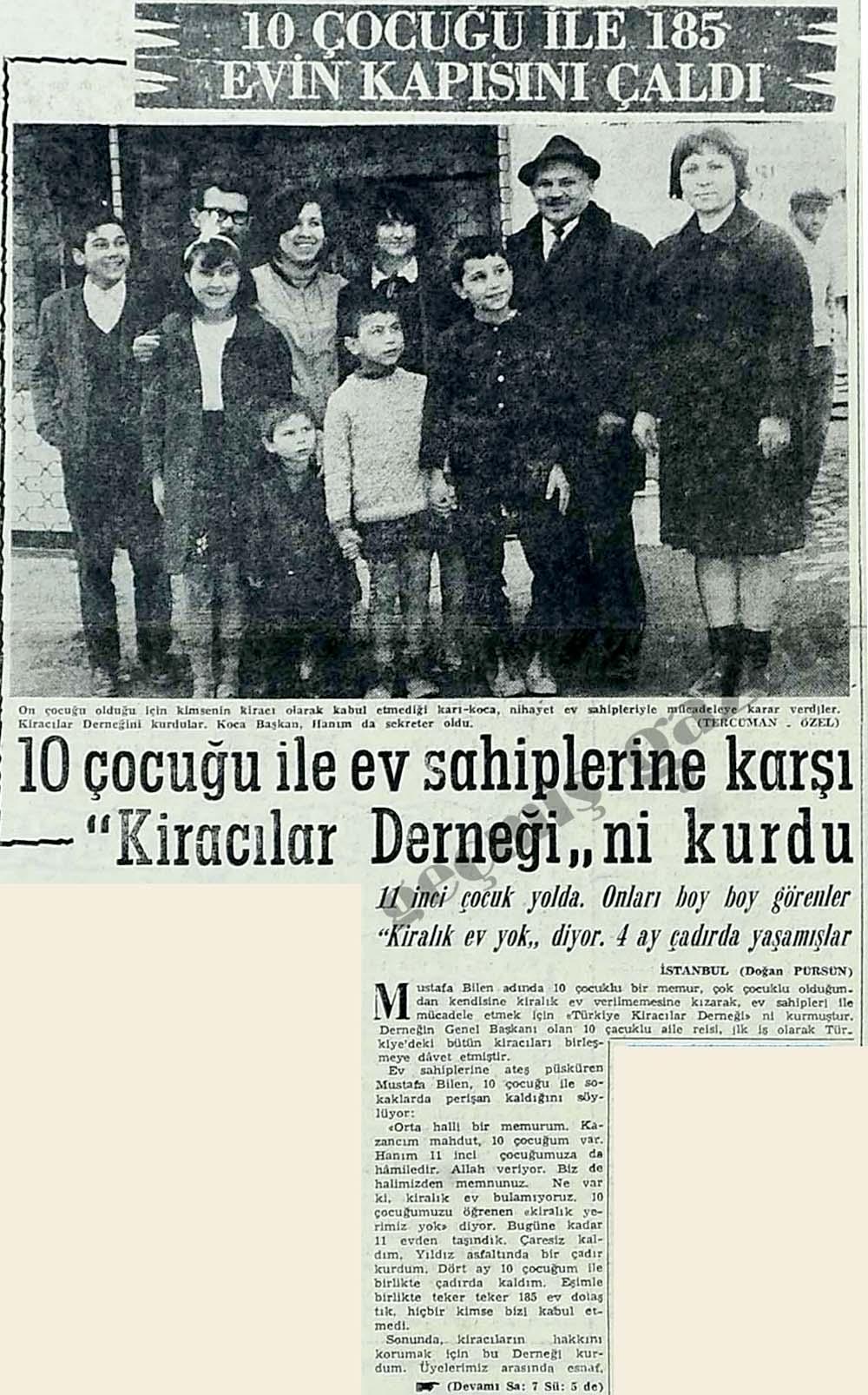 """10 çocuğu ile ev sahiplerine karşı """"Kiracılar Derneği""""ni kurdu"""