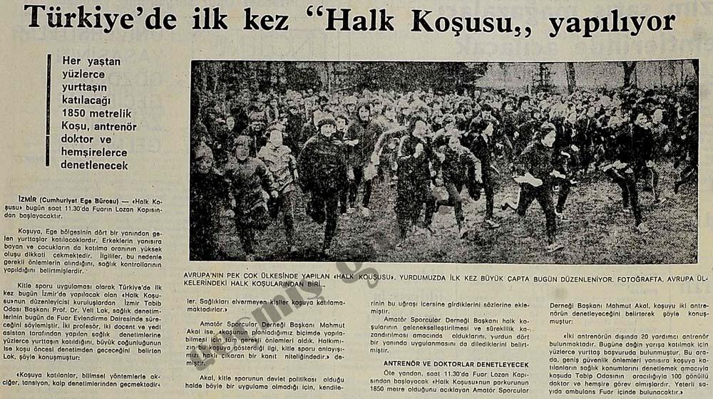 """Türkiye'de ilk kez """"Halk Koşusu"""" yapılıyor"""