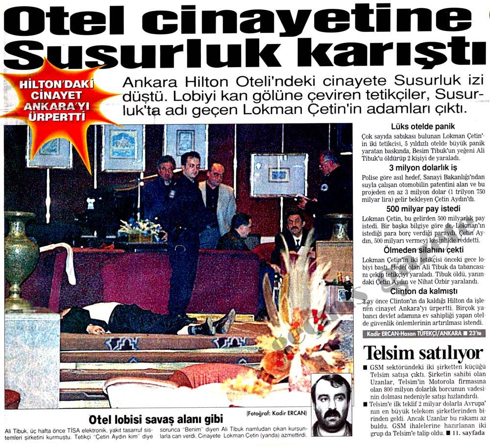 Hilton'daki cinayet Ankara'yı ürpertti