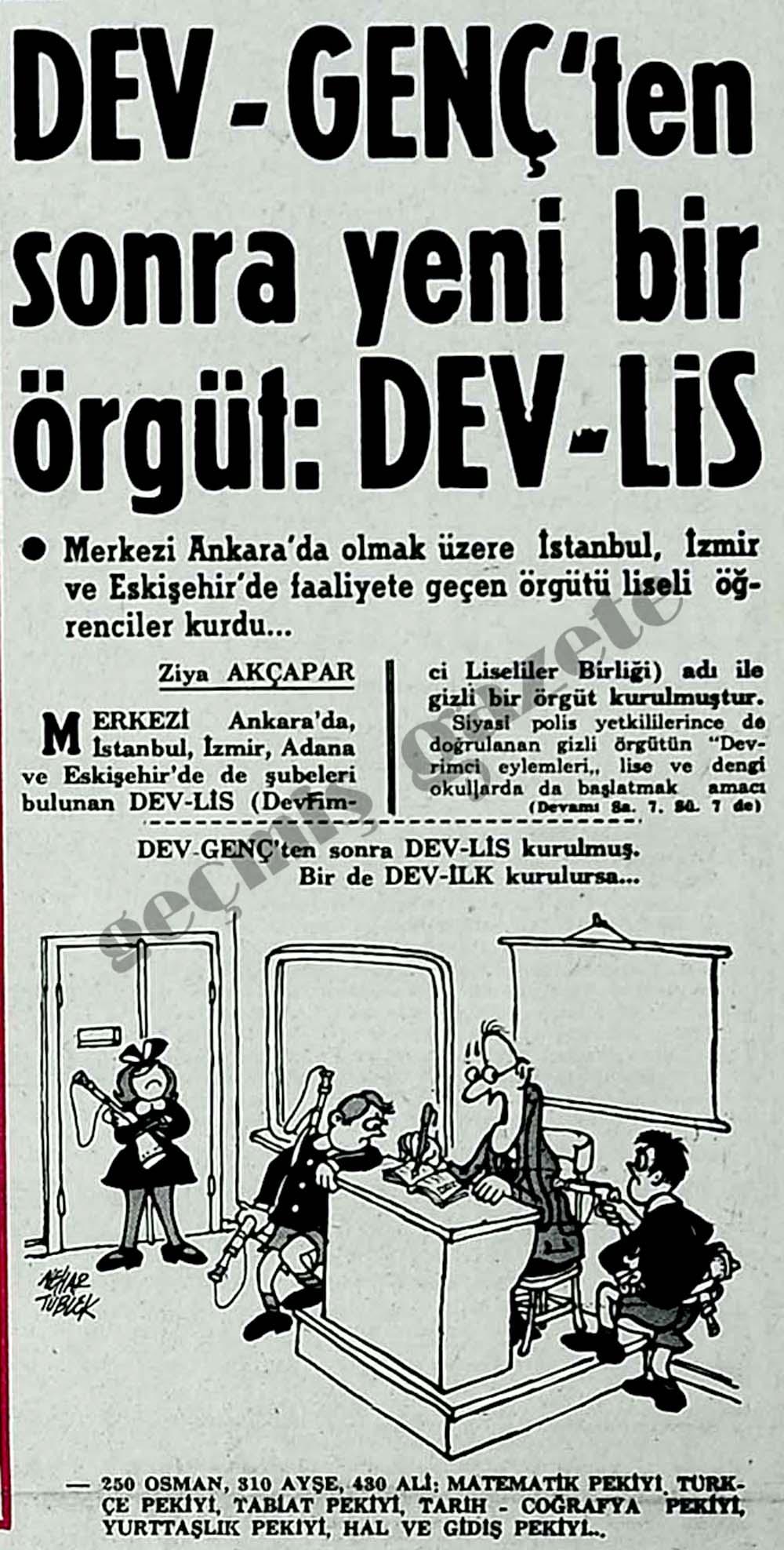 Dev-Genç'ten sonra yeni bir örgüt: Dev-Lis