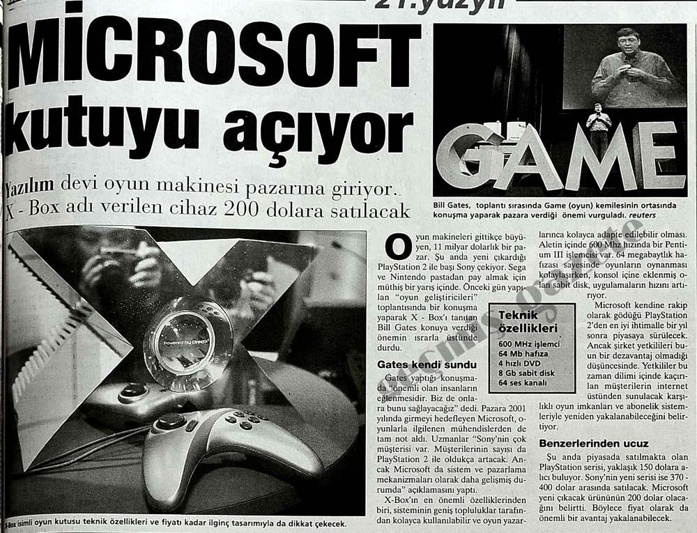 Microsoft kutuyu açıyor
