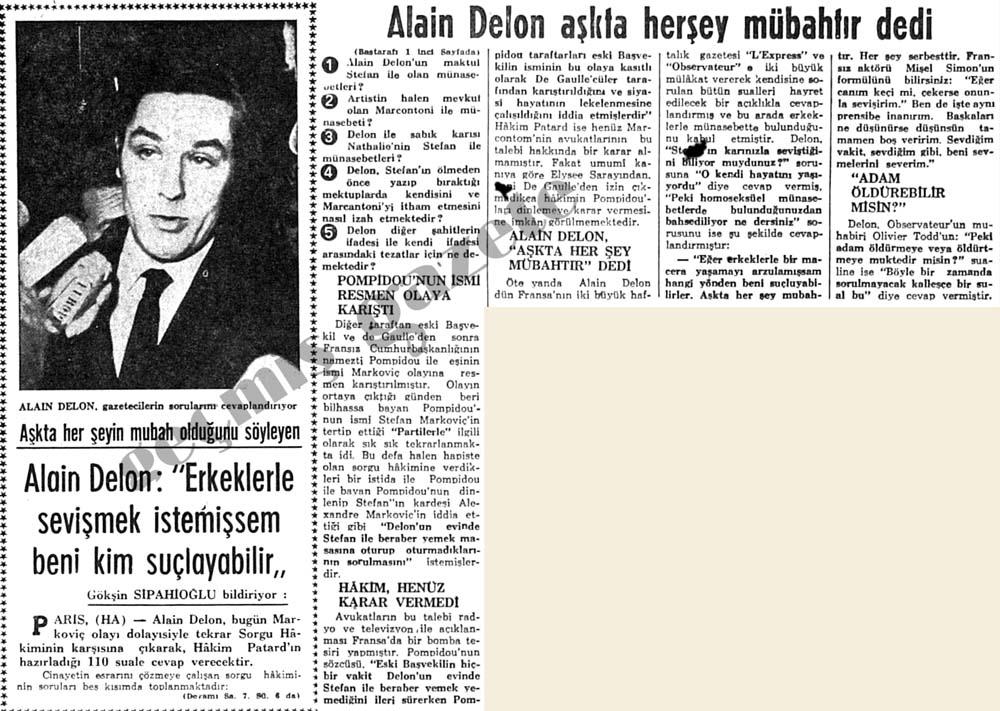 """Alain Delon: """"Erkeklerle sevişmek istemişsem beni kim suçlayabilir"""""""