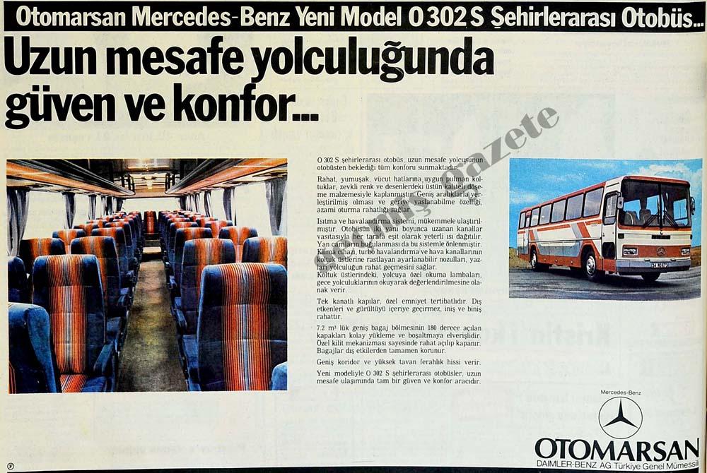 Otomarsan Mercedes-Benz Yeni Model 0302 Şehirlerarası Otobüs...