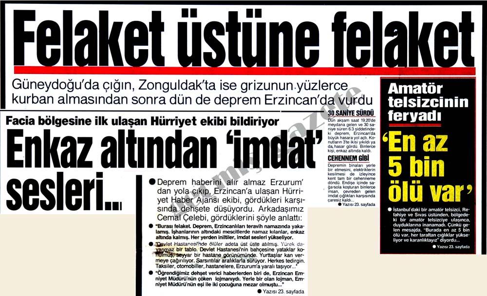 Deprem Erzincan'da vurdu