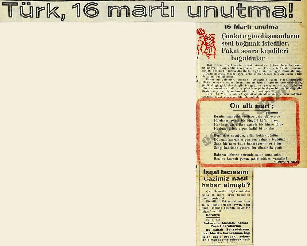 Türk, 16 martı unutma!