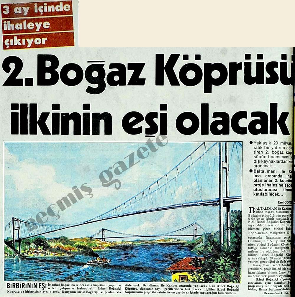 2. Boğaz Köprüsü ilkinin eşi olacak