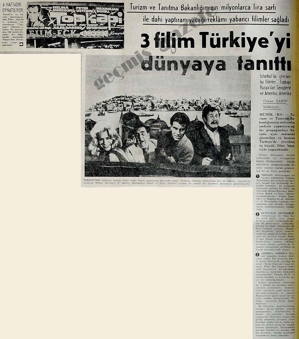 3 filim Türkiye'yi dünyaya tanıttı