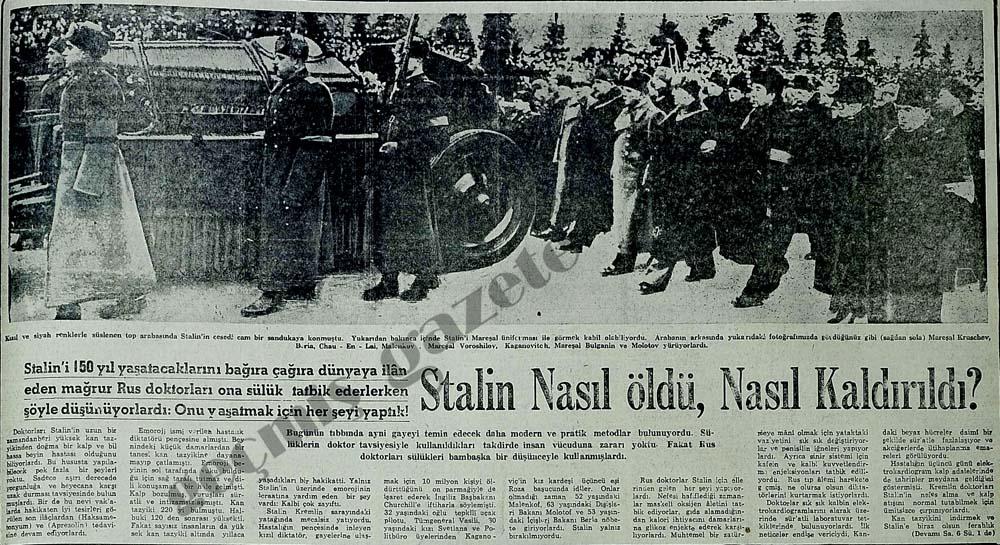 Stalin Nasıl öldü, Nasıl Kaldırıldı?