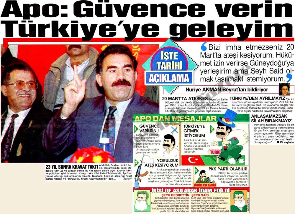 Apo: Güvence verin Türkiye'ye geleyim