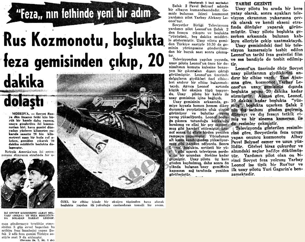 Rus Kozmonotu, boşlukta feza gemisinden çıkıp, 20 dakika dolaştı