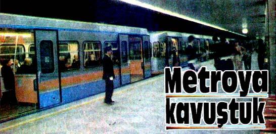 Metroya sevgi seli