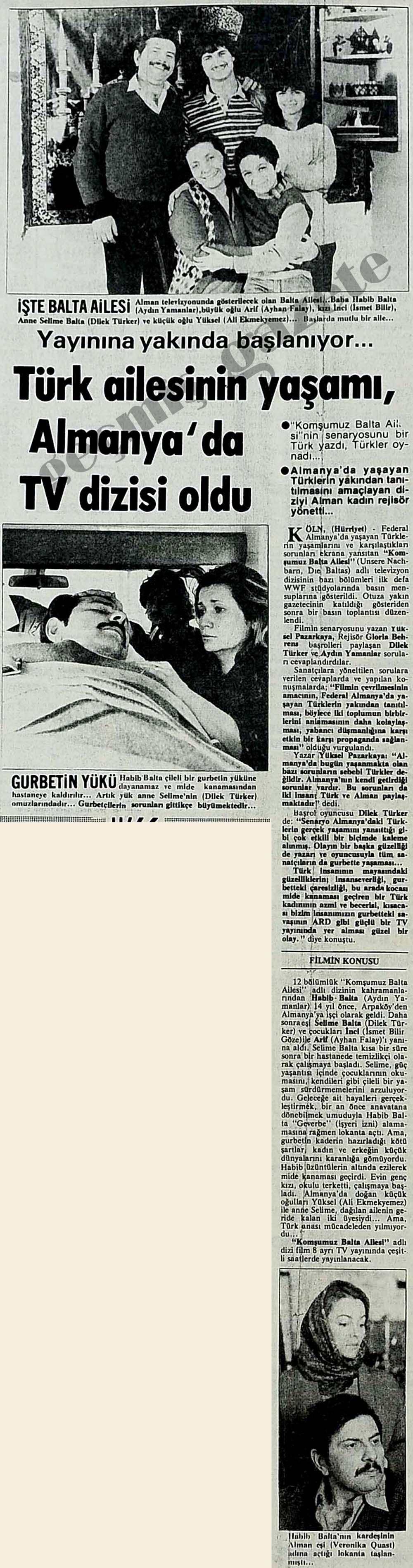 Türk ailesinin yaşamı Almanya'da TV dizisi oldu