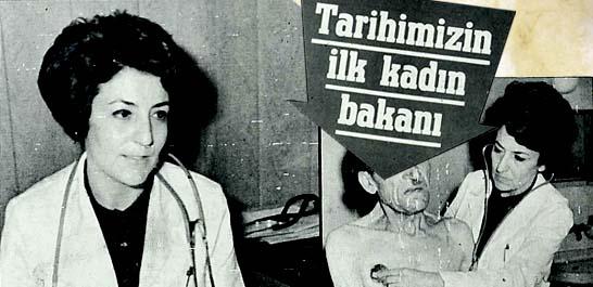 Tarihimizin ilk kadın bakanı