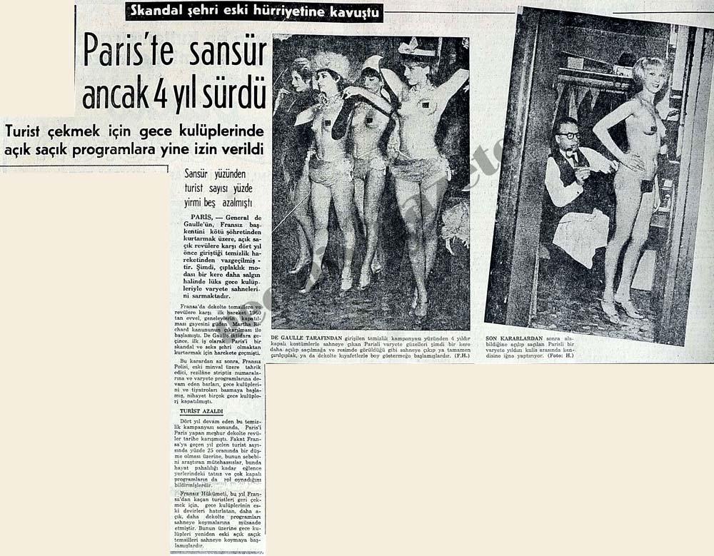 Paris'te sansür ancak 4 yıl sürdü, skandal şehir eski hürriyetine kavuştu