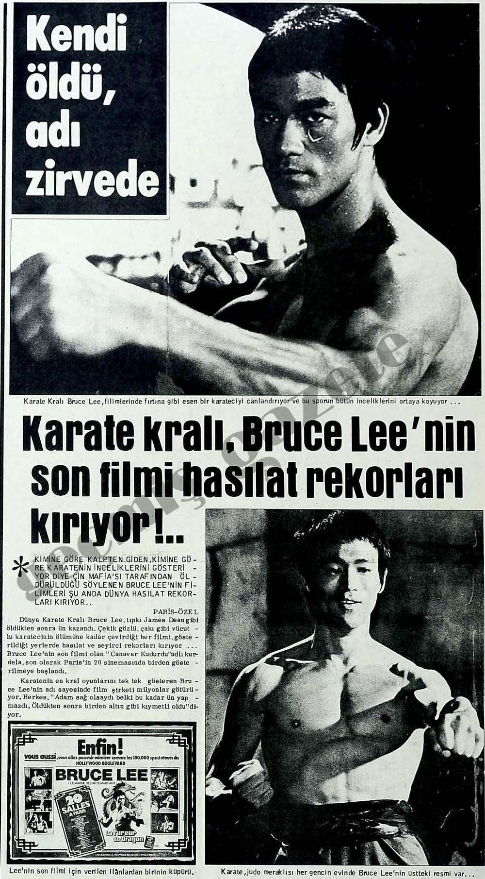 Karate kralı, Bruce Lee'nin son filmi hasılat rekorları kırıyor!..
