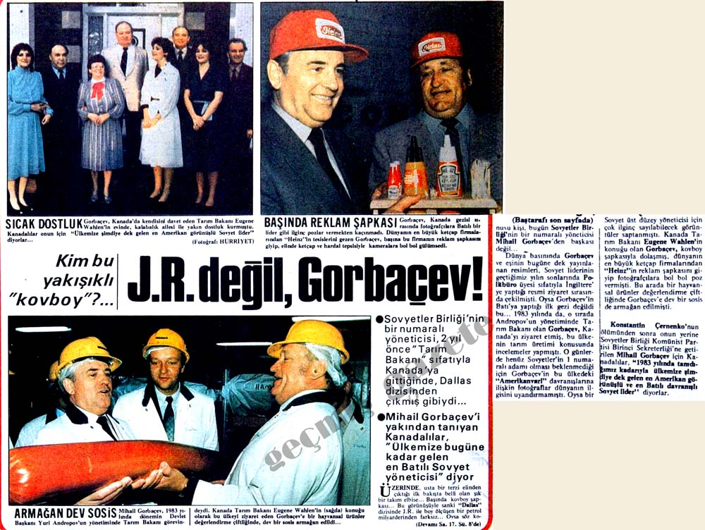 """Kim bu yakışıklı """"kovboy""""? J.R. değil, Gorbaçev!"""
