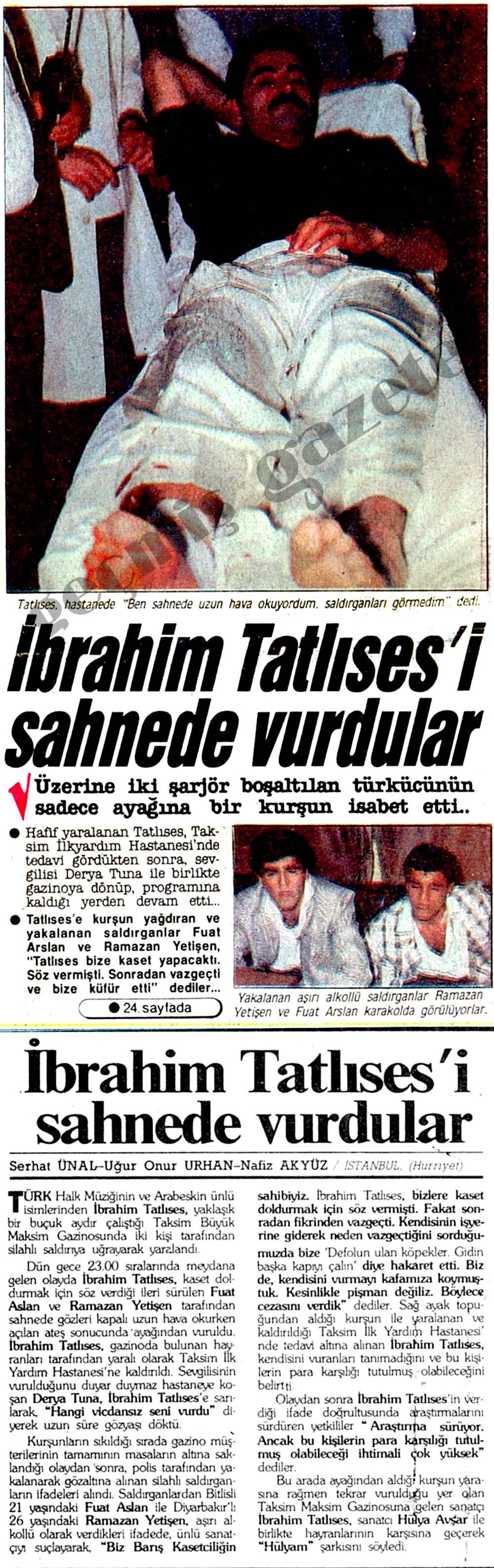 İbrahim Tatlıses'i sahnede vurdular